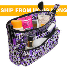 Medium Organizer Reversible Tidy Pouch Travel Insert Handbag Cosmetic Makeup Bag