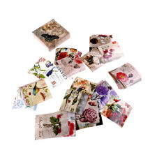 40pcs butterfly flower paper sticker diy diary decor for album scrapbooking_S