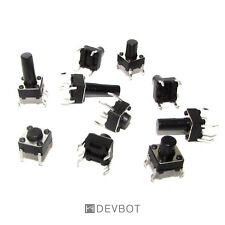 Kit 10 Boutons poussoirs 6x6mm x10 références. Switch, DIY, Arduino, Pi. B2