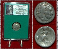 Ancient Greek Coin Of ALEXANDER THE GREAT Herakles Zeus Silver Drachm Asia Minor