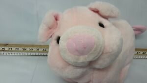 Peeko Soft toy Pig, Pink Pig, No Tag Only Label, 11 Ins High,