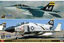 HASEGAWA 52147 1/72 F-4J Phantom II & F/A-18F Super Hornet 2Kits