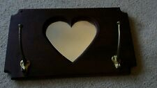 Coat/Towel  Rack with Heart Shaped Mirror