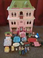 FISHER PRICE LOVING FAMILY GRAND MANSION DOLLHOUSE FURNITURE MOM DAD & MORE!
