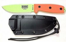 ESEE MODEL 4 TACTICAL KNIFE /1095 CARBON STEEL BLADE /G-10 HANDLES /SHEATH KIT