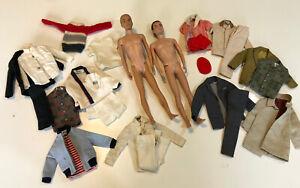 VINTAGE BARBIE MATTEL Ken Lot: 2 Dolls & 10+ Clothing Items