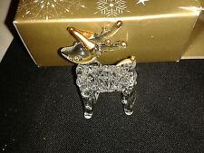 Árbol de Navidad Decoración De Filigrana De Vidrio Transparente Y Oro Reno ~ 99P Sin Reserva