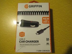 2 Griffin Power Jolt SE USB-C Car Charger 3 amp Model GC42106 TWO CHARGERS