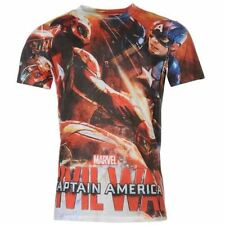Captain America Regular Size Basic T-Shirts for Men