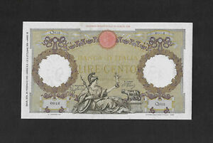 EF+ / aUNC 100 lire 1941 ITALY