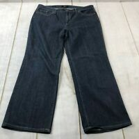 Talbots Womens Flat Front Regular Fit Bootcut Denim Blue Jeans Size 18
