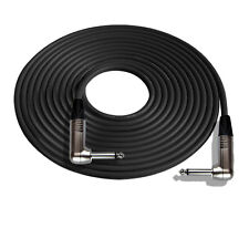 15' Mogami W2524 Guitar Black Cable w/Neutrik RA-RA, Nickel Contacts