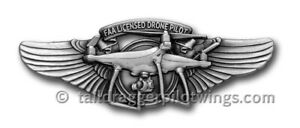 FAA LICENSED DRONE PILOT WING PIN - FREE SHIPPING