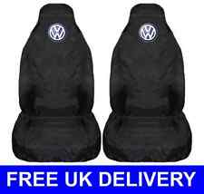 BLACK CAR SEAT COVERS PROTECTORS WATERPROOF - FITS VW VOLKSWAGEN CADDY