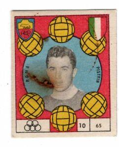 figurina CALCIO VAV 1959/60 NUMERO 65 ROMA PISTRIN