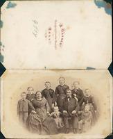 Gasser, Hall, portrait de famille Vintage CDV albumen carte de visite CDV, t