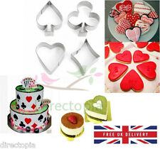 Poker Alice in Wonderland Style Cookie Cutters Cake Decorating Biscuit Mould Set