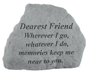 Friend Memorial Garden Stone Plaque Grave Marker Ornament Memorials Keep me Near