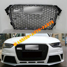 For Audi RS4 Style Front Euro Sport Chrome / Black Grille A4 B8.5 S4 SFG 2013-15