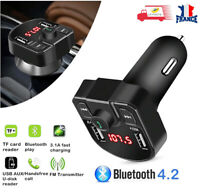 Transmetteur FM USB Multifonctions MP3 Bluetooth Chargeur Allume Cigare