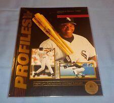 Profiles Icon Sports Premiere Edition Magazine 1992 Frank Thomas Limited Edition