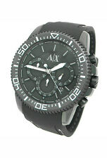 NEW ARMANI EXCHANGE CHRONOGRAPH 50M RUBBER BAND MENS WATCH AX1202