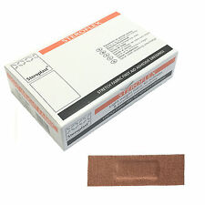 1 Box Steroplast Steroflex Flexible Elastic Fabric Tan Small 6cm x 2cm Plasters