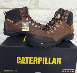 Caterpillar CAT Threshold Waterproof Steel Toe Work Boots Sz 8 Wide P90935 Brown