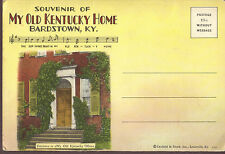 Souvenir of My Old Kentucky Home Bardstown fold-out postcard code D-546 1929