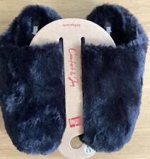 Las Nuevas Señoras Zapatillas FitFlop Peludos Talla 5 Negro