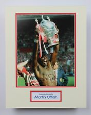MARTIN OFFIAH Wigan & England Rugby HAND SIGNED Autograph Photo Mount COA