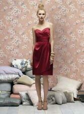 Lela Rose  LR 168.....Strapless Satin Cocktail Dress....Candy Apple...Sz 12