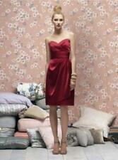 Lela Rose  LR 168.....Strapless Satin Cocktail Dress....Candy Apple...Sz 12