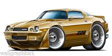 3 FT Long 1979 Chevy Camaro Z-28 Cartoon Car Wall Graphic Man Cave Decal Garage