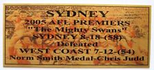 2005 Swans3D Image Premiers Gold Plaque F/Post