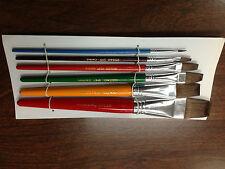 12 sets of 6 size brush sets (72 brushes)