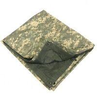 Military Reversible Field Tarp ACU 80 x 80 Ground Cloth Tarpaulin Shelter DEFECT