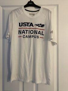 Adidas T Shirt Large White T Shirt Tennis