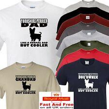 yorkshire terrier t shirt dad grandad or owner