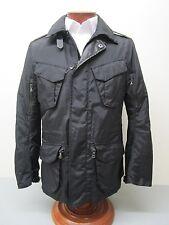 RALPH LAUREN BLACK LABEL Black Leather Trim Military Escape Jacket Size M