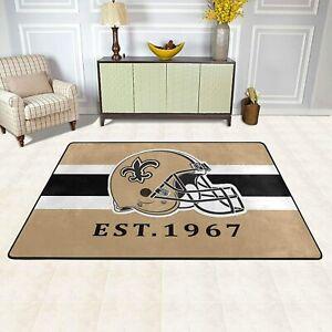 New Orleans Saints Rug Area Rug Living Room Bedroom Floor Mat Flannel Carpet