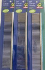 TOP PAW Comb Metal Large Long Hair Breeds Two Length Teeth to Help W/ Tangles