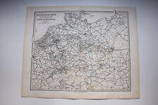 Carte de 1879, atlas Stieler, Gotha Justus Perthes Das Deutsche Reich N°18