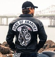 SOA Sons of Anarchy Collared Leather Jacket - BNWT