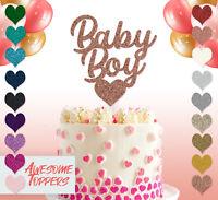 Cake Topper Personalised Custom Baby Boy Glitter Decoration Birthday Party