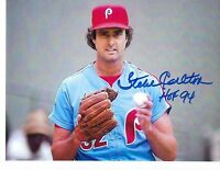 Steve Carlton Hall Of Fame 1994 Signed Inscribed 8x10 Phillies Photo