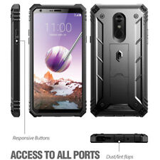 Poetic Revolution Black Rugged Case【Built-in-Screen Protector】For LG Stylo 4