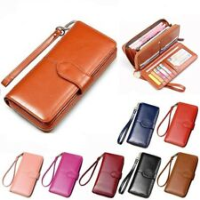 Womens Ladies Large Wallet Clutch Purses Leather Long Handbag Bag Card Holder UK