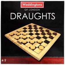 Draughts Waddingtons of London Board Game Hasbro Wood (Years 8+) 2 Players