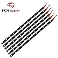 YITAMOTOR 6x Red 30CM Strip Light 5050 SMD 12LED Waterproof Car Boat Decor Lamps